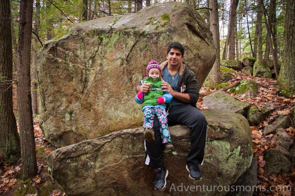 Addie and Ahmed at Pawtuckaway State Park, New Hampshire