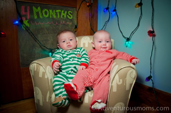 Twins at 4 months