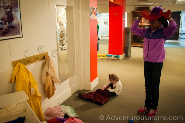 Wenham Museum dress-up area