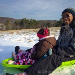 Sledding on Carter Hill, North Andover, MA