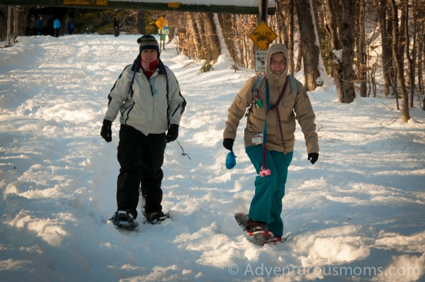 Snowshoeing the Boulder Loop Trail in Albany, NH