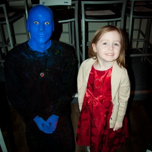 Addie meeting a Blue Man