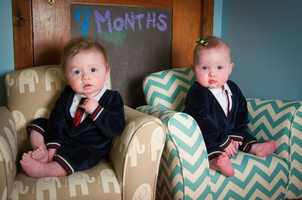 The twins at 7 months.
