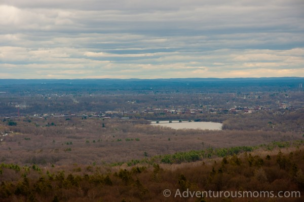 hiking Mt. Tom state reservation in Holyoke, MA