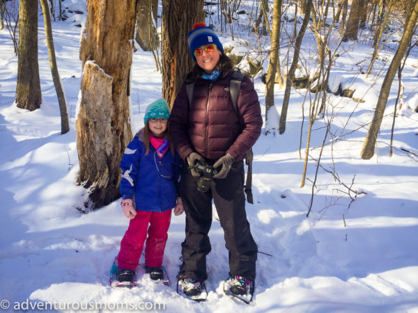 Snowshoeing on Weir Hill